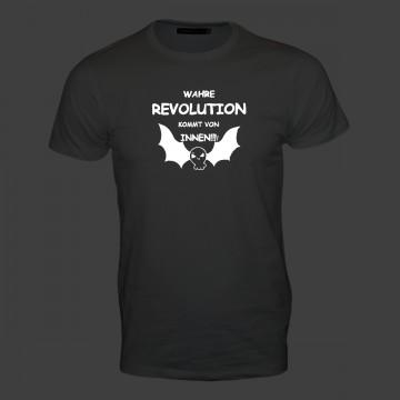 Wahre Revolution kommt von innen! Männer T-Shirt