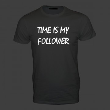 Time is my follower! Männer T-Shirt