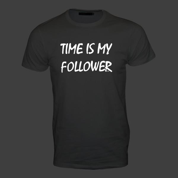 Time is my follower! Männer T-Shirt