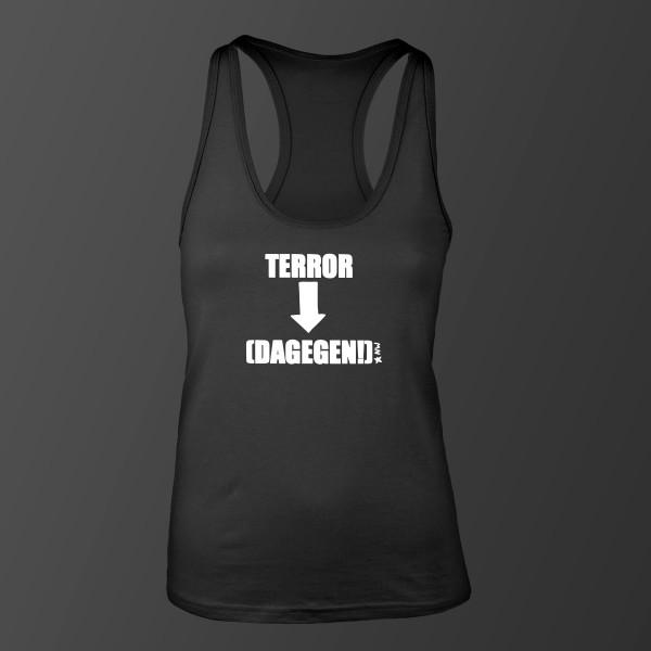 Terror- (Dagegen!) Damen Top